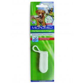 Zahn Pflegesystem MicroMed-Vet Finger mit bioaktiven Hemosfasern für Hunde