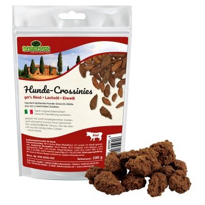 Hunde-Crossinies (90 % Rind + Lachsöl + Eiweiß), 100 g